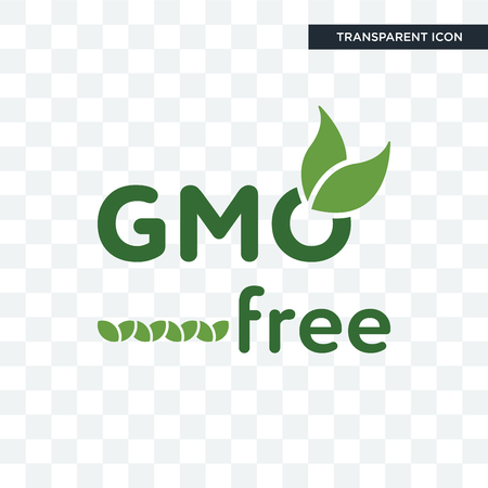 gmo free vector icon isolated on transparent background, gmo free logo concept