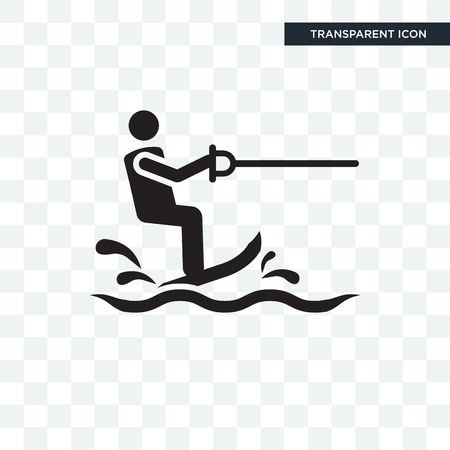 Water Ski vector icon isolated on transparent background, Water Ski logo concept