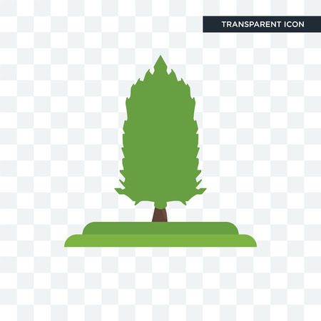 American Larch tree vector icon isolated on transparent background, American Larch tree logo concept