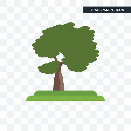 Slippery Elm tree vector icon isolated on transparent background, Slippery Elm tree logo concept Ilustracja