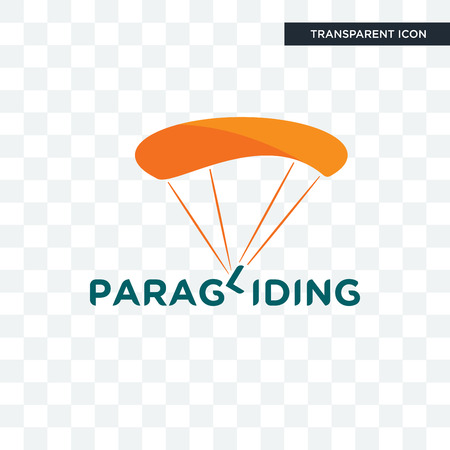 paragliding vector icon isolated on transparent background, paragliding logo concept