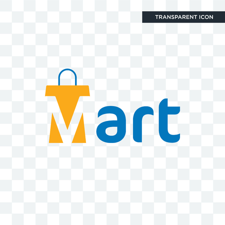 mart vector icon isolated on transparent background, mart logo concept