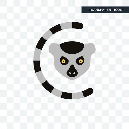 lemur vector icon isolated on transparent background, lemur logo concept