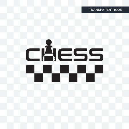 chess vector icon isolated on transparent background, chess logo concept