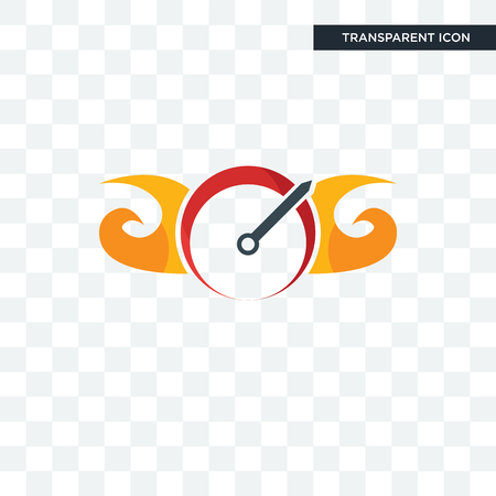 speedometer vector icon isolated on transparent background, speedometer logo concept