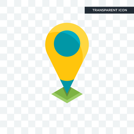 Location vector icon isolated on transparent background, Location logo concept