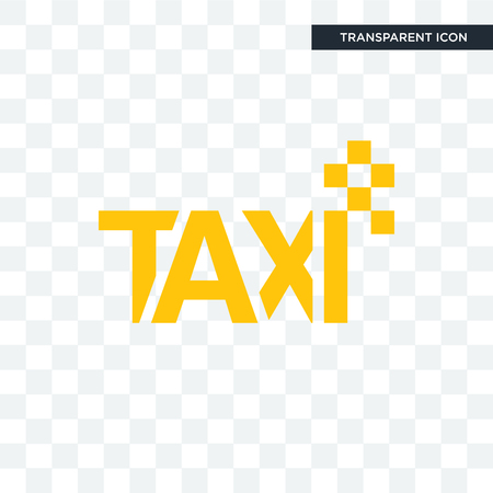 taxi vector icon isolated on transparent background, taxi logo concept 向量圖像