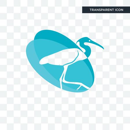 egret vector icon isolated on transparent background, egret logo concept  イラスト・ベクター素材