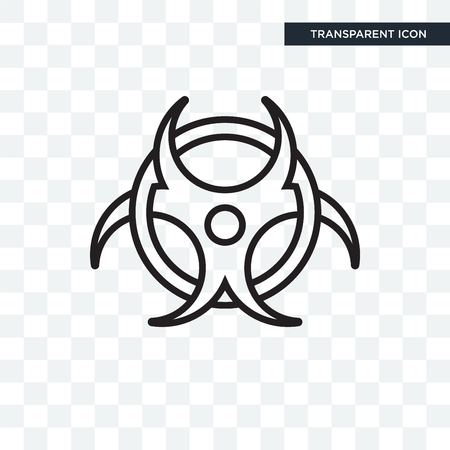 Biohazard vector icon isolated on transparent background, Biohazard logo concept