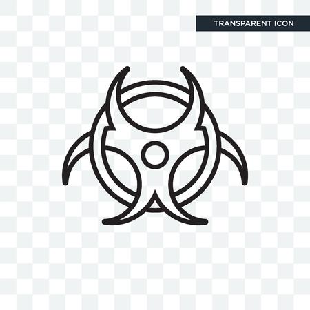 Biohazard vector icon isolated on transparent background, Biohazard logo concept Banco de Imagens - 107946969