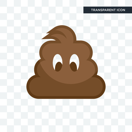 poop vector icon isolated on transparent background, poop logo concept
