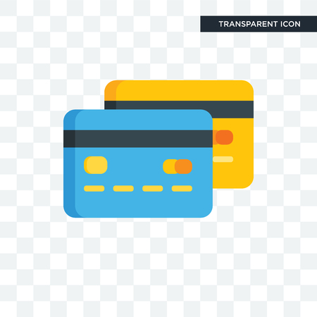 Cit card vector icon isolated on transparent background, Cit card logo concept