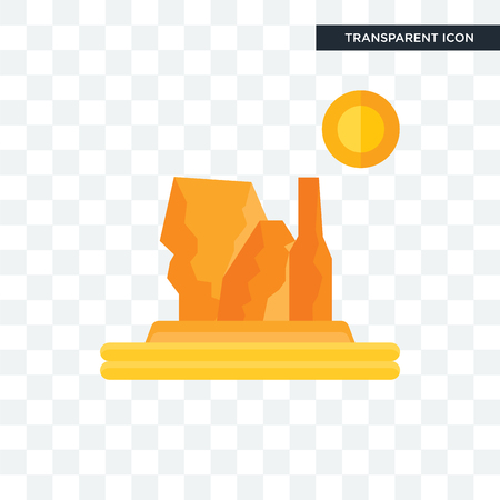 Grand canyon vector icon isolated on transparent background, Grand canyon logo concept Vectores