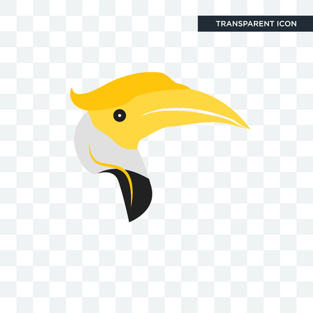 hornbill vector icon isolated on transparent background, hornbill logo concept Logo