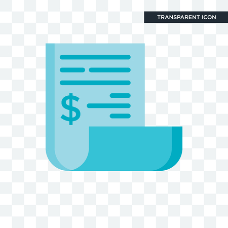Icono de vector de factura aislado sobre fondo transparente, concepto de logo de factura