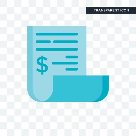 Rechnungsvektorsymbol lokalisiert auf transparentem Hintergrund, Rechnungslogo-Konzept