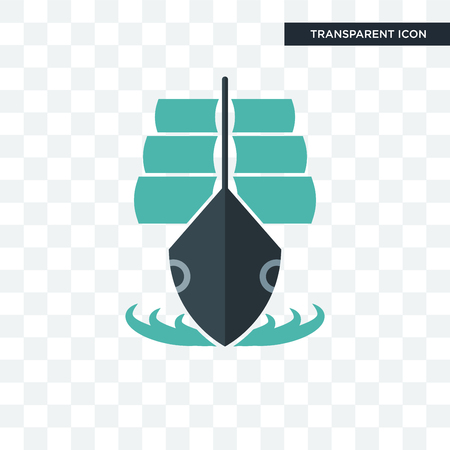 tall ship vector icon isolated on transparent background, tall ship logo concept