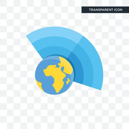 Icona di vettore di atmosfera isolata su sfondo trasparente, concetto di marchio di atmosfera Vettoriali