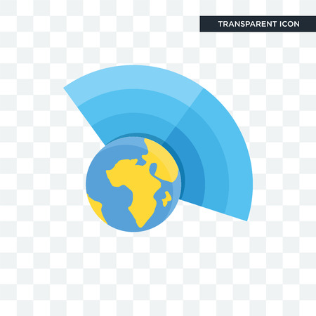 Icono de vector de atmósfera aislado sobre fondo transparente, concepto de logo de atmósfera Logos