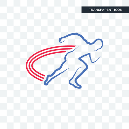 track and field vector icon isolated on transparent background, track and field logo concept