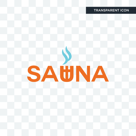 sauna vector icon isolated on transparent background, sauna logo concept Vettoriali