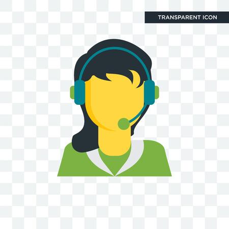 Icono de vector de telemarketer aislado sobre fondo transparente, concepto de logo de telemarketer