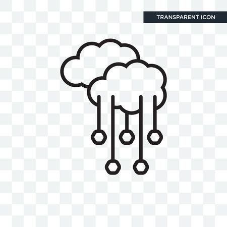 Hagel vector pictogram geïsoleerd op transparante achtergrond, hagel logo concept
