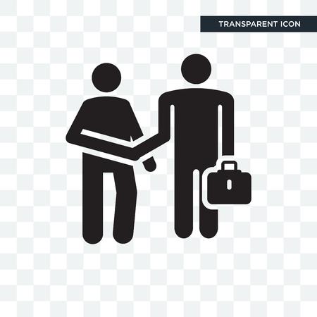 Versicherungsvertreter-Vektorikone lokalisiert auf transparentem Hintergrund, Versicherungsvertreter-Logo-Konzept