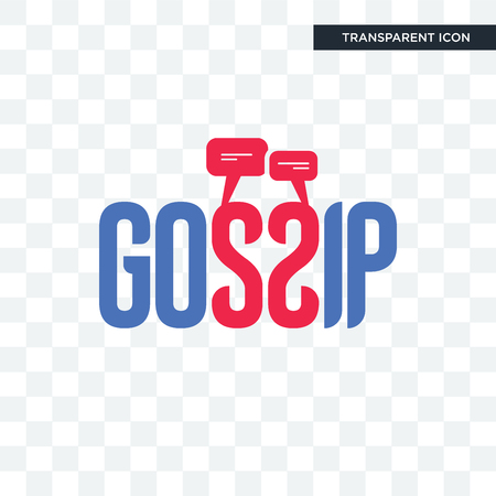 gossip vector icon isolated on transparent background, gossip logo concept
