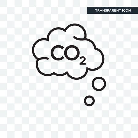 Ikona wektora co2 na białym tle na przezroczystym tle, koncepcja logo co2