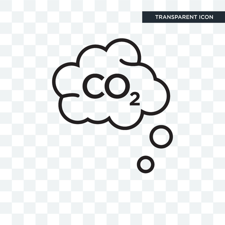 Co2 vector icon isolated on transparent background, Co2 logo concept
