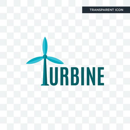 Icono de vector de turbina aislado sobre fondo transparente, concepto de logo de turbina