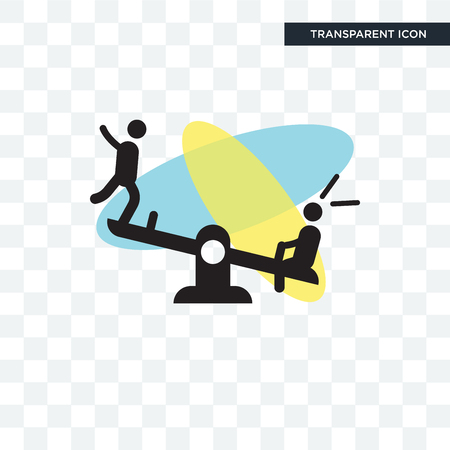Childs playing in playgrpound vector icon isolated on transparent background, Childs playing in playgrpound logo concept Ilustração