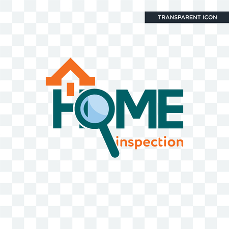 home inspection vector icon isolated on transparent background, home inspection logo concept Logo
