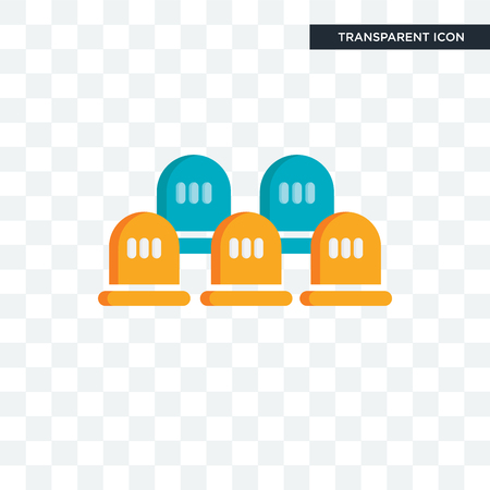 Seats vector icon isolated on transparent background, Seats logo concept