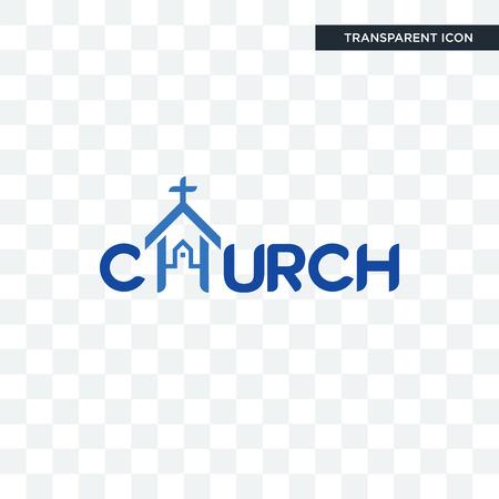 icône de vecteur d'église isolé sur fond transparent, concept logo église