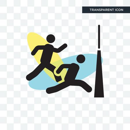 Ausführen eines Rennvektorsymbols lokalisiert auf transparentem Hintergrund, Ausführen eines Rennlogo-Konzepts