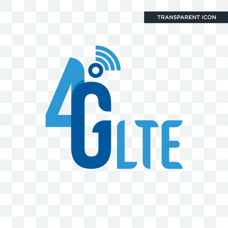 4g lte vector icon isolated on transparent background, 4g lte logo concept