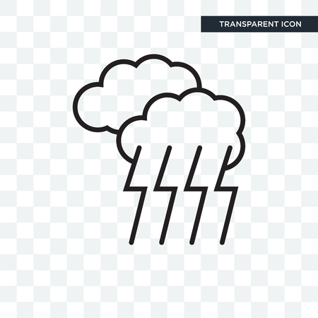 Storm vector icon isolated on transparent background, Storm logo concept