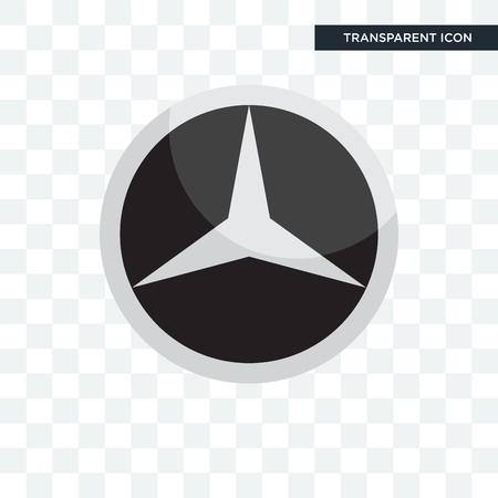 mercedes vector icon isolated on transparent background, mercedes logo concept