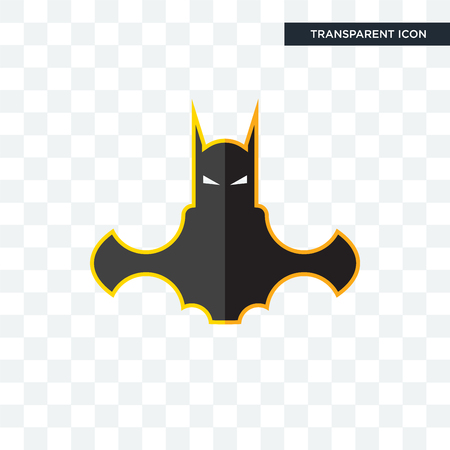 bat man vector icon isolated on transparent background, bat man logo concept