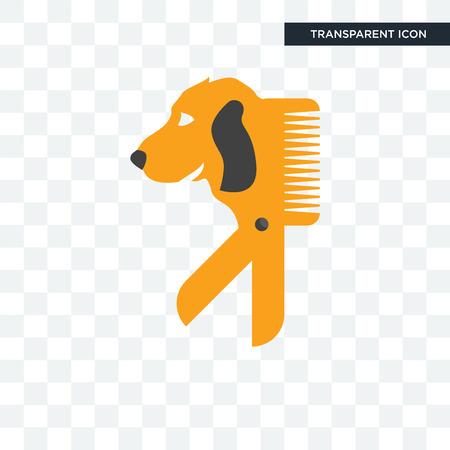 Icône de vecteur de toiletteur chien isolé sur fond transparent, concept logo chien toiletteur