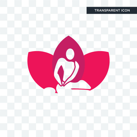 massage therapist vector icon isolated on transparent background, massage therapist logo concept