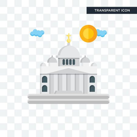 Vaticano vector icon isolated on transparent background, Vaticano logo concept Ilustrace