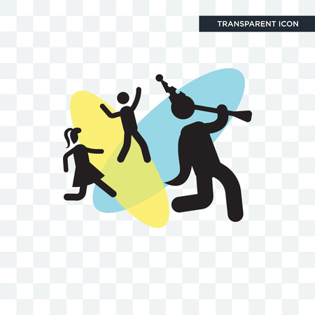 Troubadour with Kids vector icon isolated on transparent background, Troubadour with Kids logo concept