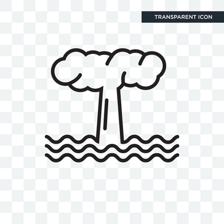 Geyser vector icon isolated on transparent background, Geyser logo concept Иллюстрация