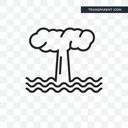Geyser vector icon isolated on transparent background, Geyser logo concept Logo