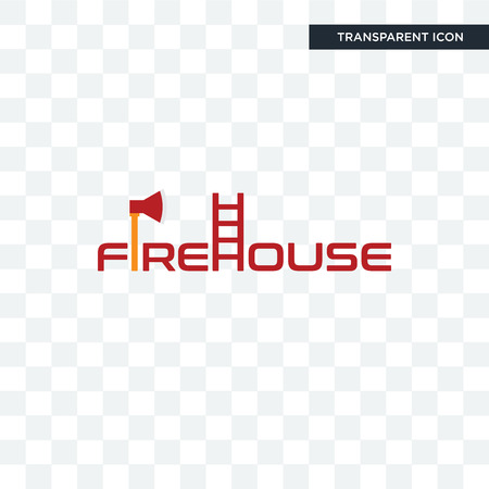 firehouse vector icon isolated on transparent background, firehouse logo concept Stock Illustratie