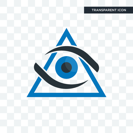 third eye vector icon isolated on transparent background, third eye logo concept