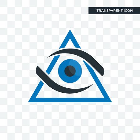 Icono de vector de tercer ojo aislado sobre fondo transparente, concepto de logo de tercer ojo